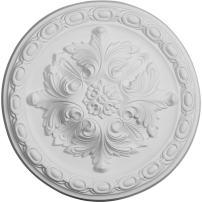 "Ekena Millwork CM12ST Stockport Ceiling Medallion, 11 3/4""OD x 3/8""P, Factory Primed"
