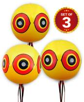 DE-BIRD: Balloon Bird Repellent - 3-Pk - Fast and Effective Solution to Pest Problems - Scary Eye Balloons Keep Birds Away from House, Garden Crops, Swimming Pools & More