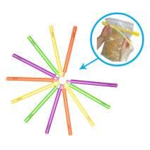 B'Seal Bag Sealer Chip Clip, Flexible, Dishwasher Safe, Freezer Friendly Airtight Food Seal Clamp (12 pack)
