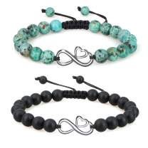 COAI Love Heart Infinity His and Hers Stone Couples Bracelets