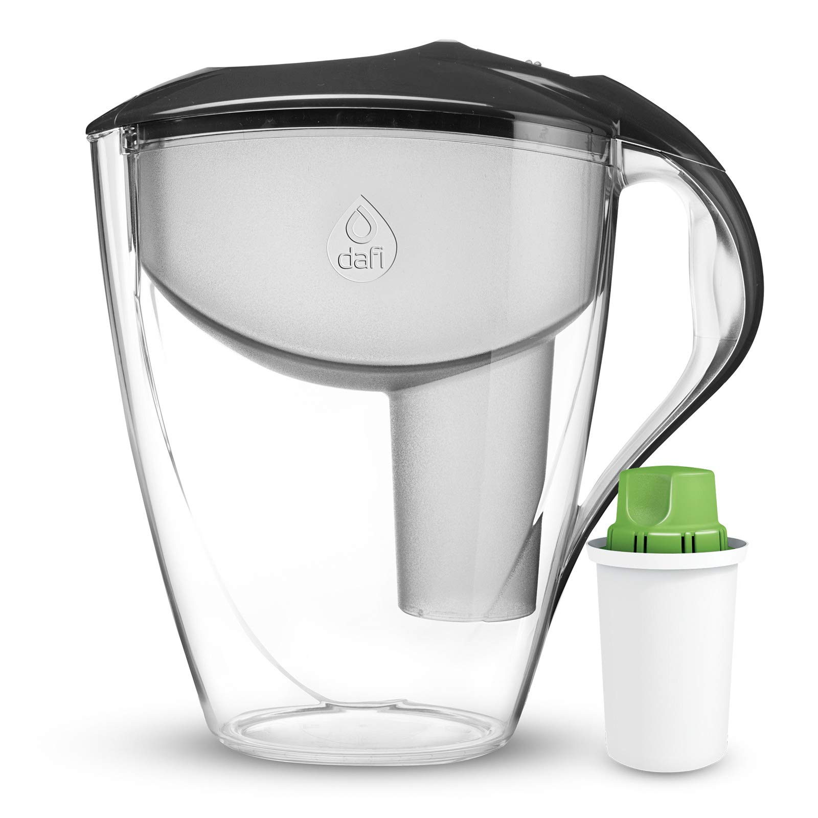 Dafi Alkaline UP Astra LED pH Water Filter Pitcher - Alkaline Water System - Get Water with high pH and Negative OR Potential, BPA Free (Anthracite)