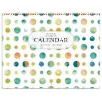 "2020 Wall Calendar - Wall Calendar 2020 Monthly Calendar with Inner Pocket and Pen Loop,Large Ruled Blocks, 22.9"" x 14.9"" (Open)"