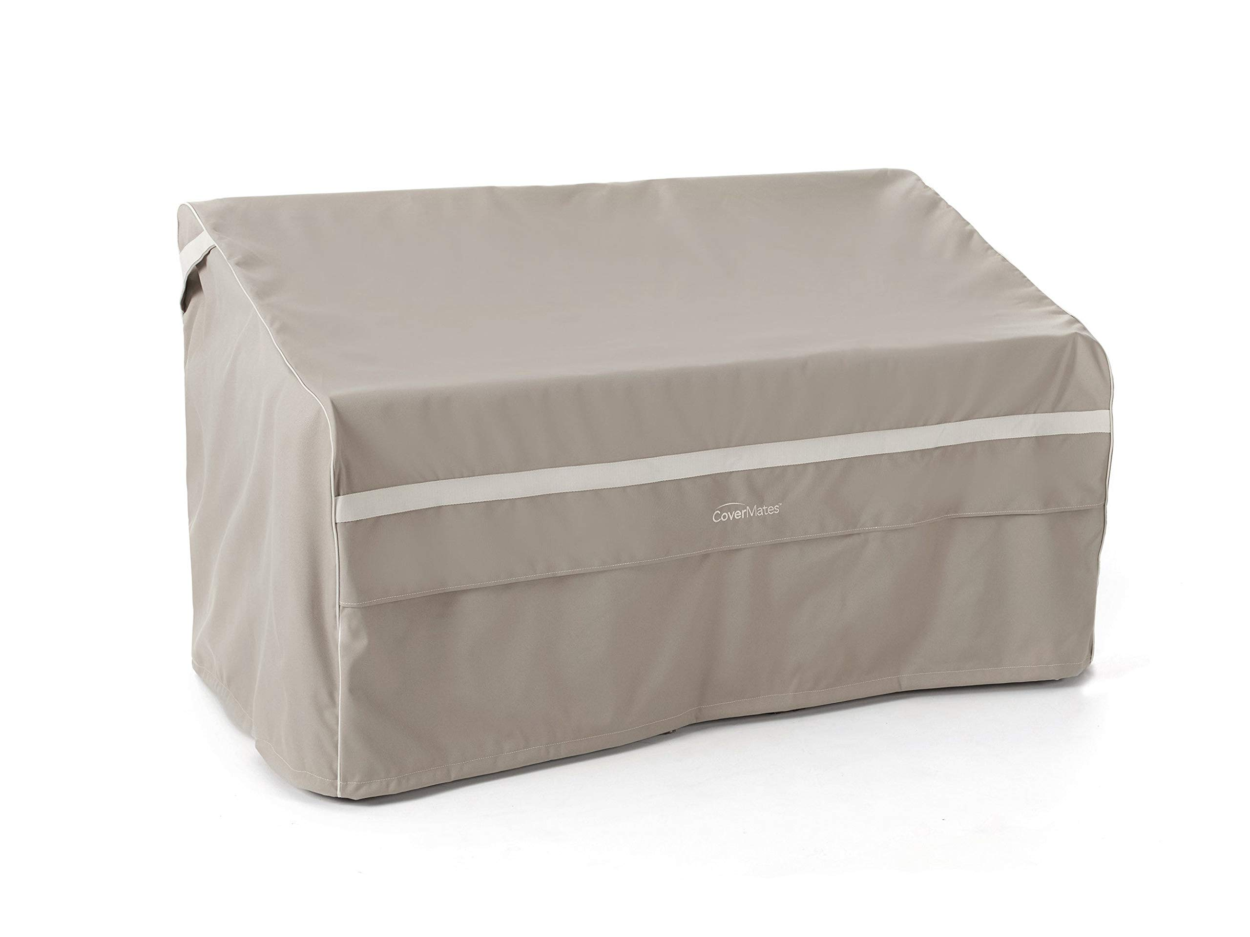 Covermates – Outdoor Patio Loveseat Cover – Heavy Duty Material - Water and Weather Resistant - Patio Furniture Covers - Clay