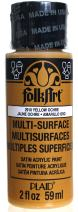 FolkArt Multi-Surface Paint in Assorted Colors (2 oz), 2910, Yellow Ochre