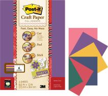 Post-it 8-1/2 by 12-Inch Craft Paper, Assorted Jewel Tones, 6-Sheet/Pack