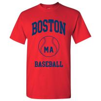 Classic Baseball Arch Basic Cotton T-Shirt