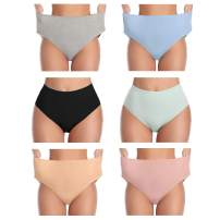 Womens Underwear Cotton High Waist Soft Breathable Stretchy Briefs Comfortable Panties for Ladies(Multicolor)