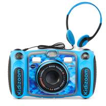 VTech Kidizoom Duo 5.0 Deluxe Digital Selfie Camera with MP3 Player & Headphones, Blue, Great Gift For Kids, Toddlers, Toy for Boys and Girls, Ages 3, 4, 5, 6, 7, 8, 9