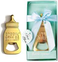 12PCS Baby Shower Favors Openers for Guests Party Favors Party Supplies Poppin Baby Bottle Shaped Openers with Individual Gift Box Party Souvenirs Table Decorations Thank You Gifts Boy Birthday Gifts