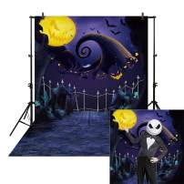 Allenjoy 6.5x10' Nightmare Before Christmas Backdrop for Halloween Picture Pumpkin Moonlight Newborn Children Photography Background Party Birthday Banner Baby Shower Home Decoration Decor Photo Booth