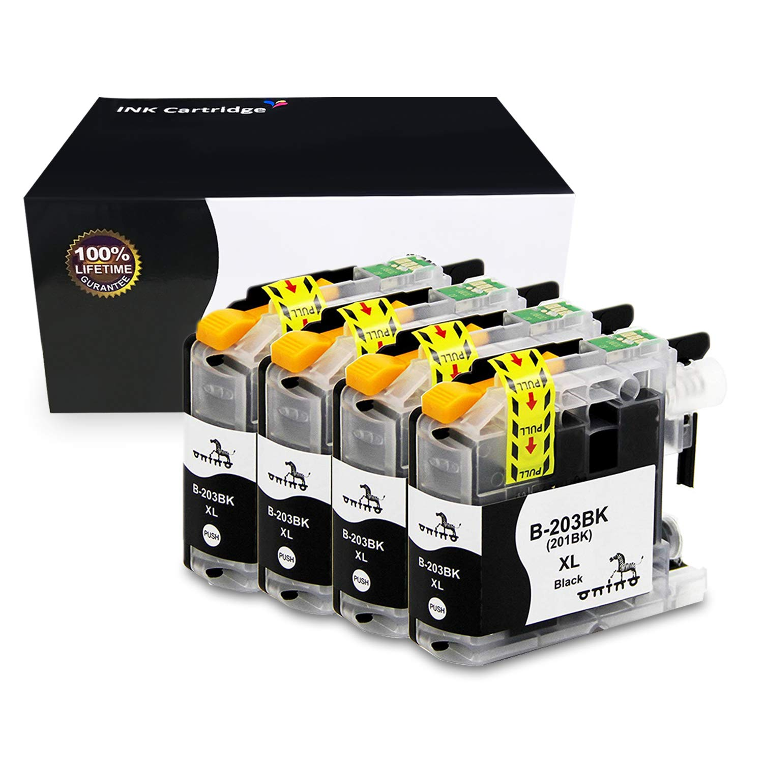 onino Compatible Ink Cartridge Replacement for B-LC203 201XLBK Used in Brother MFCJ4620DW J4420DW J5720DW J5620DW MFC-J885DW J480D J680DW J460DW MFC-J485DW J880DW 4-Plus Black