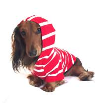 DJANGO Dog Hoodie and Super Soft and Stretchy Sweater with Elastic Waistband and Leash Portal