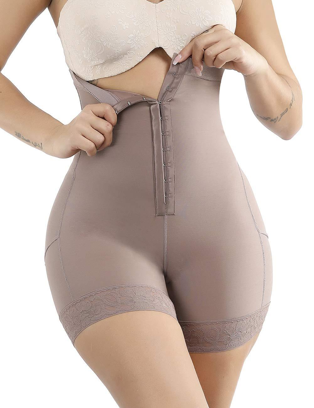 Sweetlover Women Shapewear Shaper Body Shaper Slimming Bodysuit Waistline with Long Leg Lace Hem Plus Size S-6XL