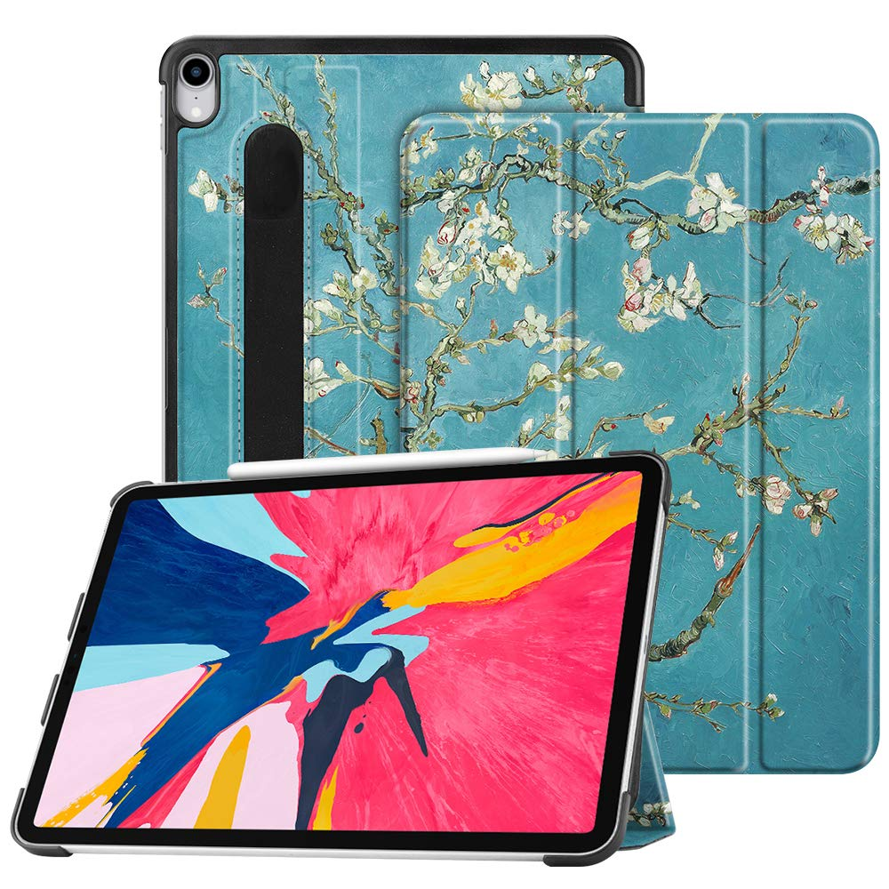 "Fintie SlimShell Case for iPad Pro 11"" 2018 [Supports 2nd Gen Pencil Charging Mode] - Lightweight Stand Cover with [Secure Pencil Holder] Auto Sleep/Wake for iPad Pro 11, Blossom"