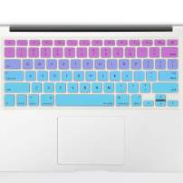 "Allinside Pink and Blue Green Ombre Keyboard Cover Skin for MacBook Pro 13"" 15"" 17"" (2015 or Older Version), MacBook Air 13"" A1369/A1466, Older iMac Wireless Keyboard MC184LL/B"