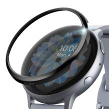 Ringke Bezel Styling Cover for Galaxy Watch Active 2 (40mm Only) Case Bezel Ring Adhesive Accessory - Glossy Black (GW-A2-40-03)
