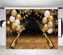 Black Golden Balloons Photo Background Gold Champagne Bokeh Photo Backdrops Graduation Prom Holiday Party Supplies Banner 30th 40th 50th 60th Birthday Decoration Studio Props Banner 7x5ft