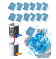 12 pcs Effervescent Tablet Washer Cleaner,Solid Washing Machine Cleaner,Washing Machine Deep Cleaning Tab