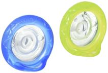 Nuby 2 Piece Natural Flex Silicone Oscillating Cherry Pacifier, 0-6 Months (Colors may vary)