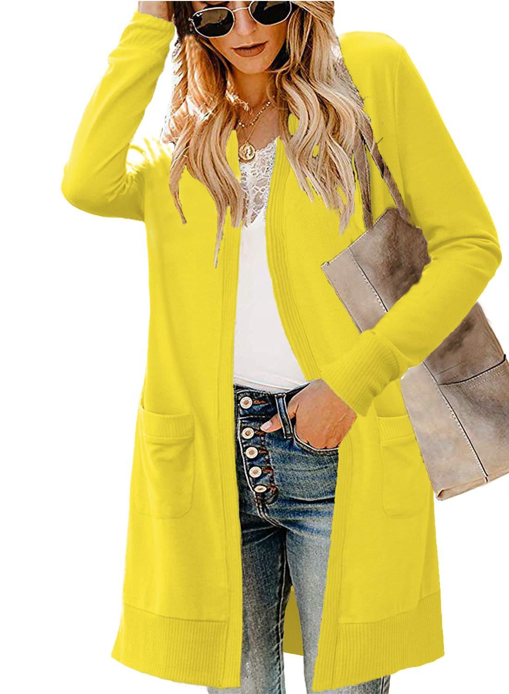 LIENRIDY Women's Long Sleeve Open Front Lightweight Knited Cardigan Sweaters