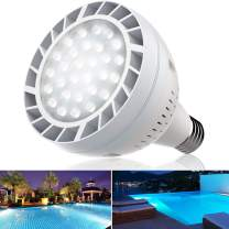Bonbo LED Pool Bulb White Light, OSRAM 120V 65W Swimming Pool Light Bulb 6500K Daylight White E26 Base 500-800W Traditional Bulb Replacement for Most Pentair Hayward Light Fixture
