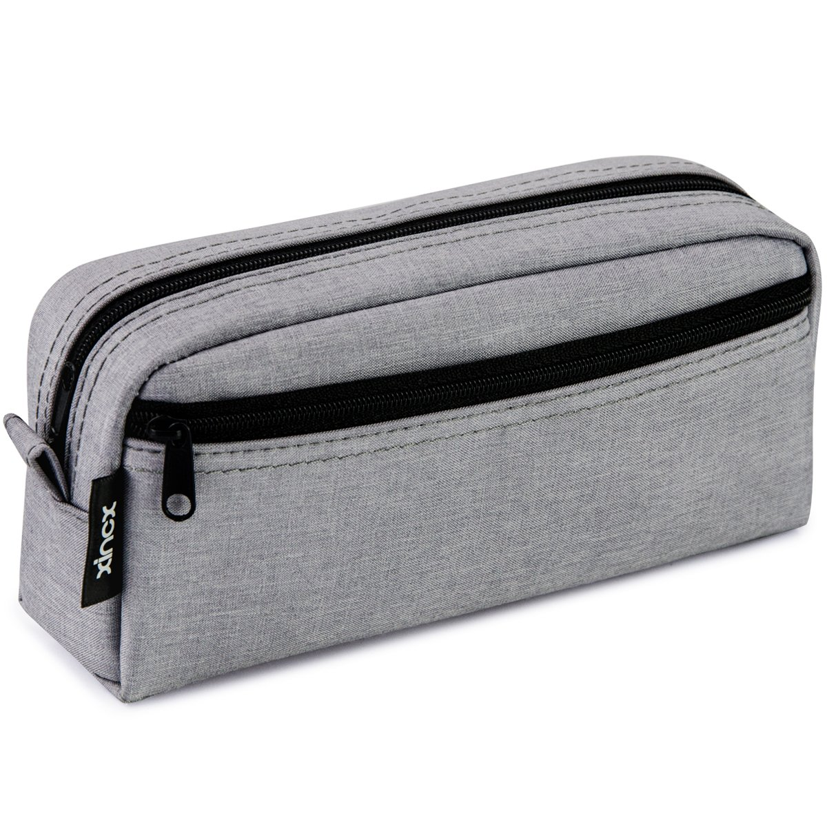 Big Capacity Pencil Case Stationery Pouch,Multi-Colored Pen Pouch,Cosmetic Pouch Bag, Pen Bag with Zipper Bag for Boy Girl (Light Gray)