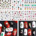 FineInno 20 Sheets Christmas Nail Art Stickers 3D Nails Tips Decals Self-adhesive DIY Manicure Stencil Decoration for Fingernails Toenails,Random Style (20 Sheets,Random Style)
