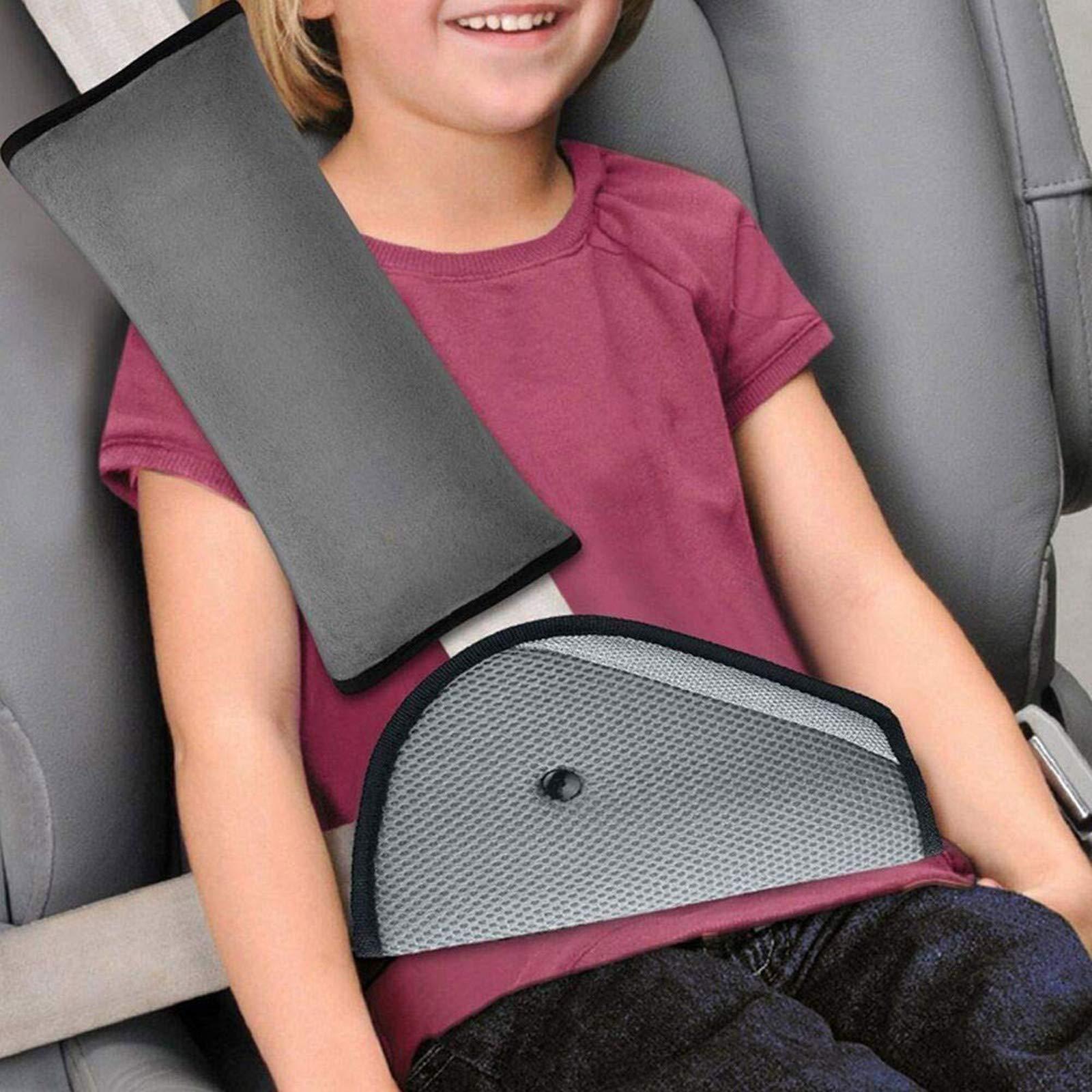 KKTICK Seat Belt Cover, Car Seatbelt Pillow for Kids, Safety Belt Strap Protector, Shoulder Adjuster Pad, for Children Baby Adult