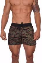 YoungLA Men's Bodybuilding Gym Running Shorts 101