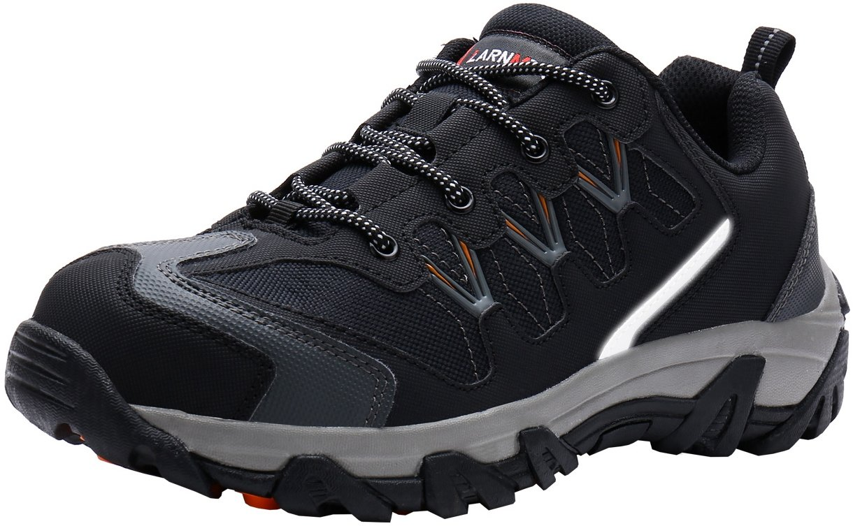 LARNMERN Workshift Shoes for Men,Breathable Comfortable Footwear Steel Toe Shoes Lightweight Indestructible Anti-Slip Safety Shoes