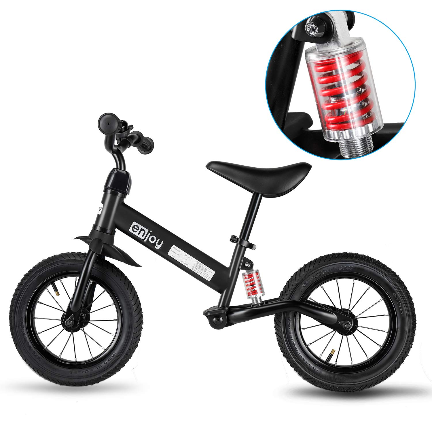 besrey Balance Bike Baby Bike for 3-5 Years Training Bicycle with Shock Absorber, Inflatable Rubber Tire for Kids and Toddlers