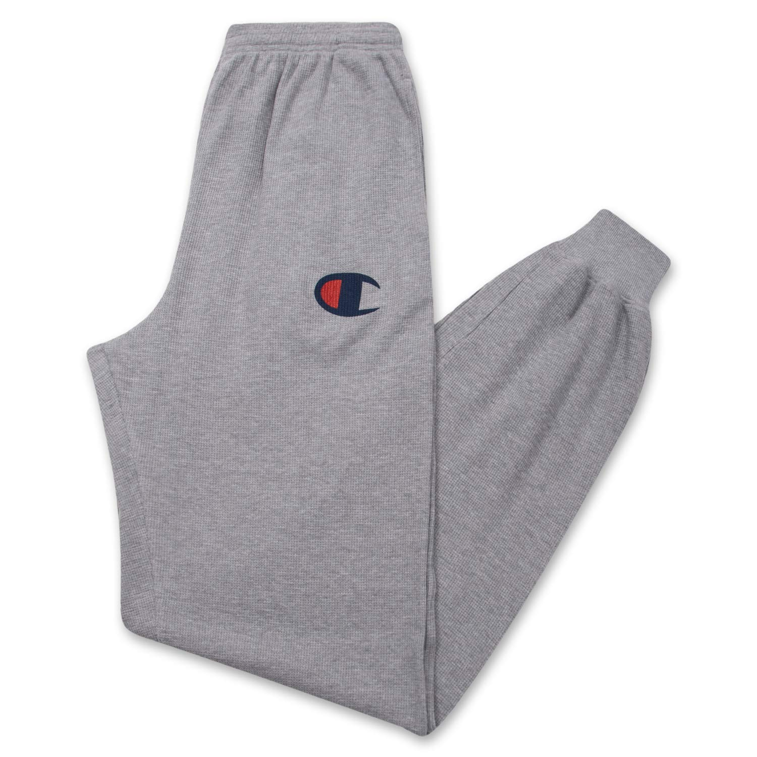 Champion Men's Big and Tall Waffle Thermal Logo Loungewear Jogger Sweatpant