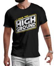 LeRage Shirts I Have The High Ground T-Shirt Fan Made Star Wars Shirt Men's