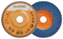 Walter 15W604 ALLSTEEL Flap Disc [Pack of 10] - 40 Grit, 6 in. Grinding Disc for Heavy Deburring, Blending, Fillet Welds