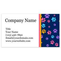 """Premium Personalized Business Cards 3.5"""" x 2"""" - 100 Cards - 14Pt, Recycled, 28PT Business Cards - All Business Designs - 40+ Designs - 100% Made in the U.S.A. - Same Day Shipping (Puppy Prints)"""