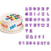 40pcs Alphabet Number Letter Cutter Mould Decorating Set