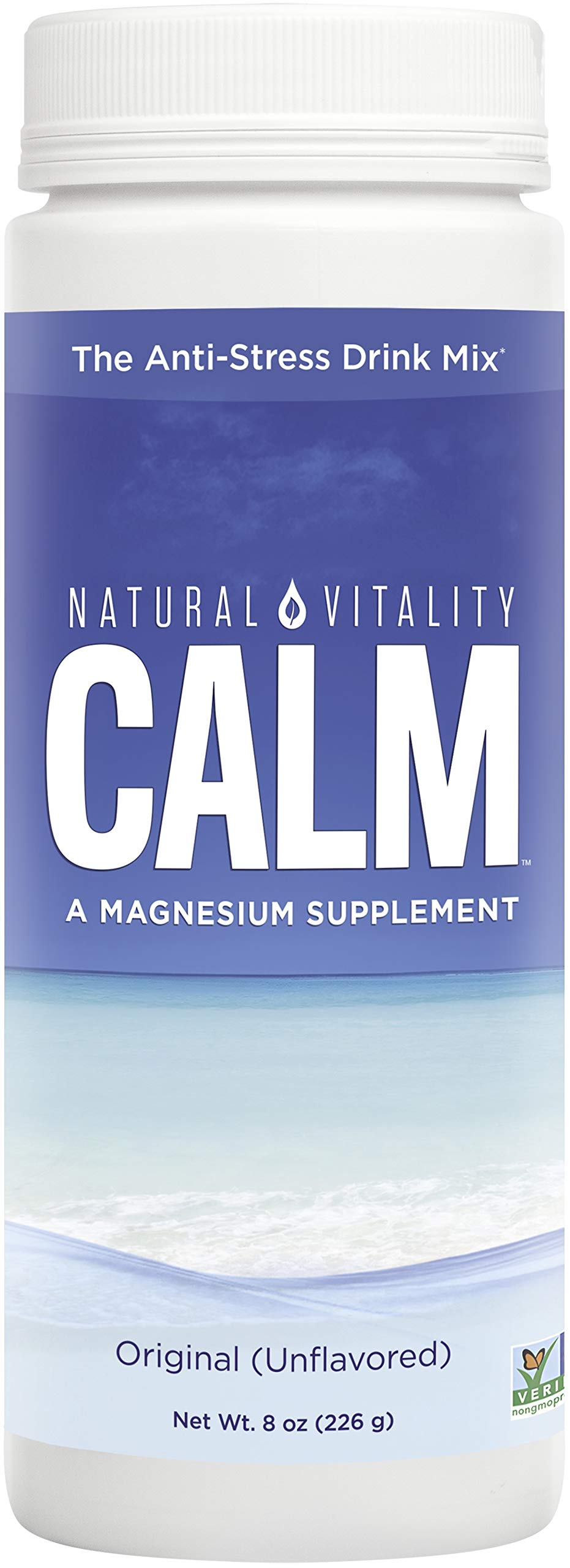 Natural Vitality Calm, Magnesium Citrate Supplement, Anti-Stress Drink Mix Powder, Unflavored - 8 Ounce (Packaging May Vary)