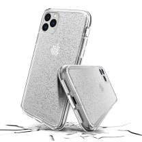 Prodigee [Superstar Clear for iPhone 11 Pro 5.8'' 2019 Case Clear Transnsparent 2 Meter Military Certified Drop Shock Test Cell Phone Case Cover Super Thin Slim Protective Sparkle Glitter Flakes
