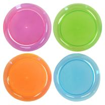 Party Essentials Hard Plastic 9-Inch Round Party/Luncheon Plates, Assorted Neon, 80-Count