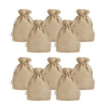 """PH PandaHall 100pcs Linen Burlap Bags with Jute Drawstring, 3.7x5.3"""" Gift Bags for Wedding Party Favors Jewelry Pouch, Christmas DIY Craft Arts Projects, Peru"""