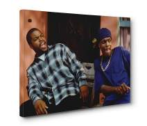 DOLUDO Wall Art Canvas Painting Ice Cube Chris Tucker Friday Movie Prints Posters Picture Gifts Artwork for Living Room Bedroom Wall Decor No Frame 16x24inch