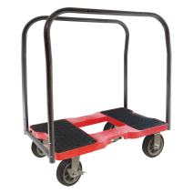 SNAP-LOC 1500 LB All-Terrain Panel CART Dolly RED with Steel Frame, 6 in Casters, Panel Bars and Optional E-Strap Attachment