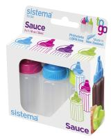 Sistema 21475 Hangsell Sauce Pot, 2 Packs Of 3 Pieces Each