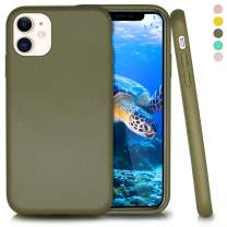 Inbeage Biodegradable iPhone 11 Phone Case,Eco-Friendly,Durable and Slim,6.1 Inches (Olive Green)