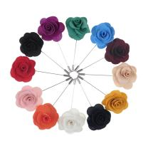 TopTie Flower Lapel Pin Rose for Wedding, 12 Pcs Assorted Color