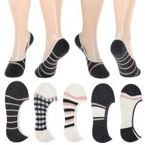 5 Pack Women Footies No Show Athletic Socks for Flats Slip on Shoes Invisible No Slip Socks for Boat Shoe