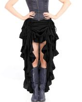ThePirateDressing Steampunk Victorian Cosplay Costume Womens High-Low Show Girl Skirt C1367