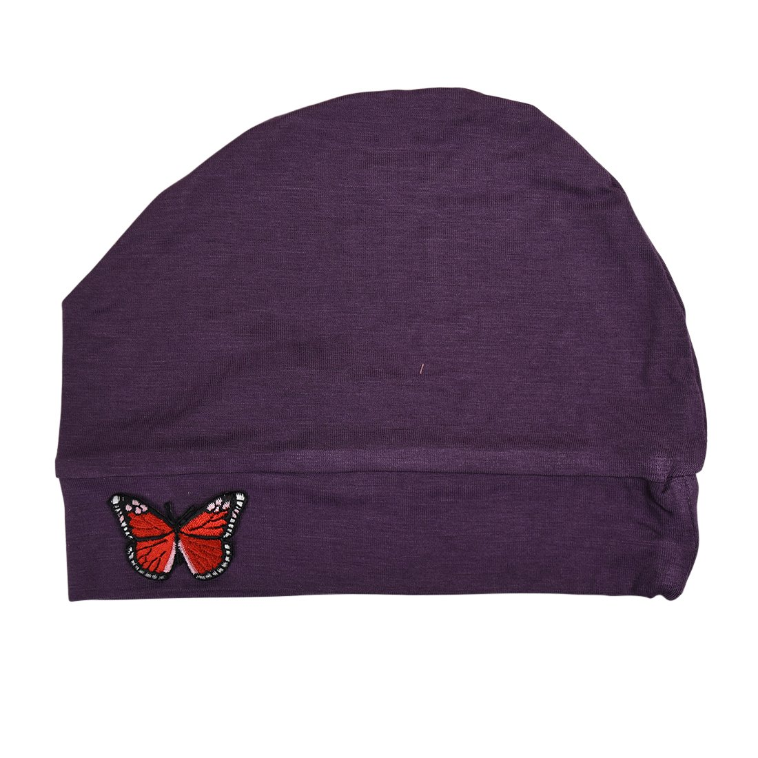 Womens Soft Chemo Cap and Sleep Turban with Red Butterfly