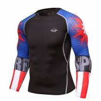 Men's Compression Top Long Sleeve Baselayer Shirt Sports Tights T-Shirt Sport Wear Activewear Running Shirt