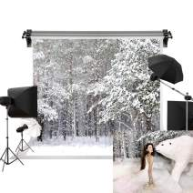 Kate 7x5ft/2.2m(W) x1.5m(H) Winter Background Christmas Snow Backdrop Snowfield Winter Wonderland Backdrop Photography Studio Prop